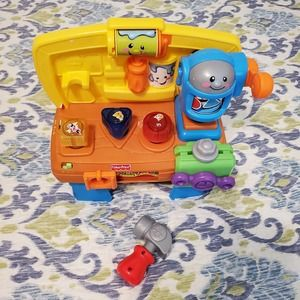 Fisher-Price Laugh & Learning Workbench w/ Hammer